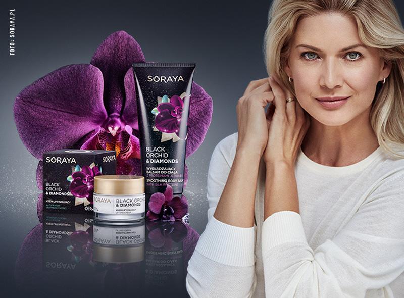 Czarna orchidea i diamenty w kosmetykach SORAYA